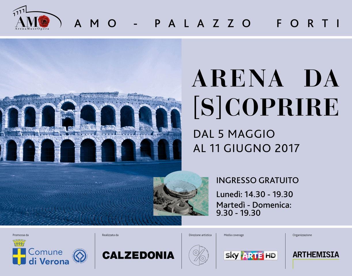 Mostra progetti copertura Arena di Verona